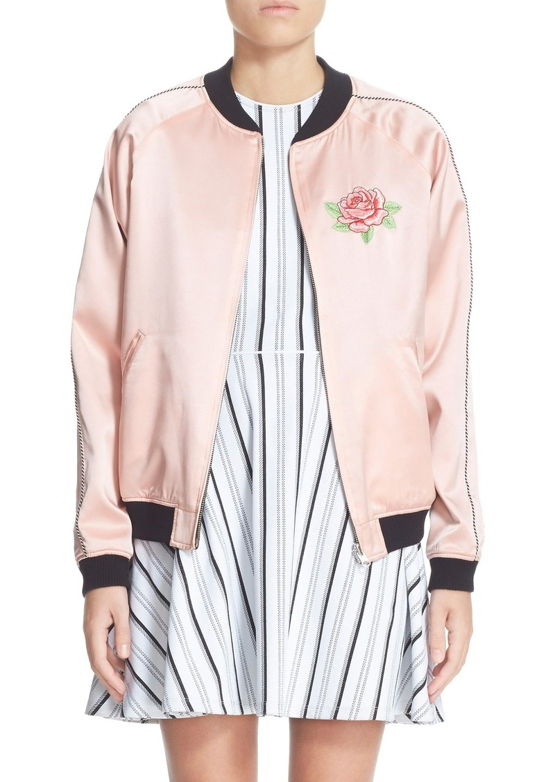 Opening Ceremony Reversible Embroidered Silk Bomber Jacket