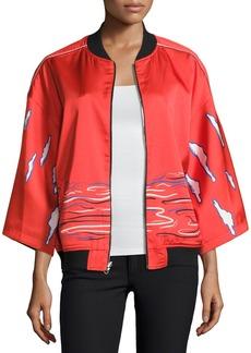 Opening Ceremony Reversible Kimono Silk Bomber Jacket