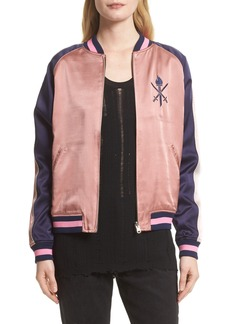 Opening Ceremony Reversible Silk Bomber Jacket (Nordstrom Exclusive)