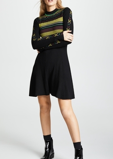 Opening Ceremony Rib Stripe Flare Dress