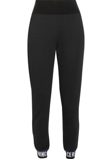 Opening Ceremony Ribbed knit-trimmed cotton track pants
