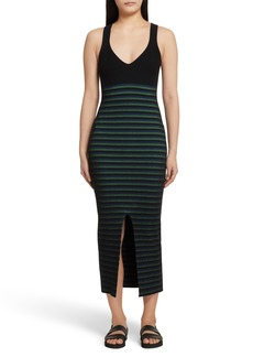 Opening Ceremony Ribbed Stripe Midi Dress