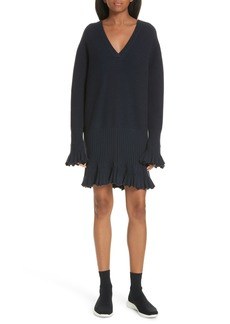 Opening Ceremony Ruffle Trim Sweater Dress