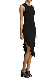 Opening Ceremony Slit Ruffle Dress
