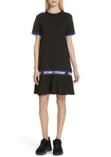 Opening Ceremony Scallop Elastic Logo T-Shirt Dress (Limited Edition)