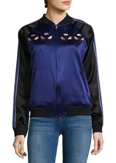 Opening Ceremony Silk Front-Zip Bomber Jacket