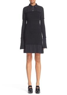Opening Ceremony Smocked Georgette Shirtdress