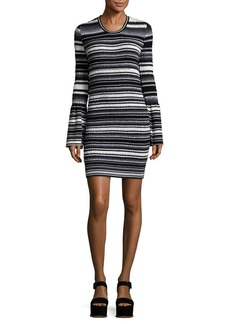 Opening Ceremony Smocked Stripe Mini Dress