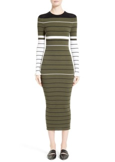 Opening Ceremony Stripe Rib Knit Dress