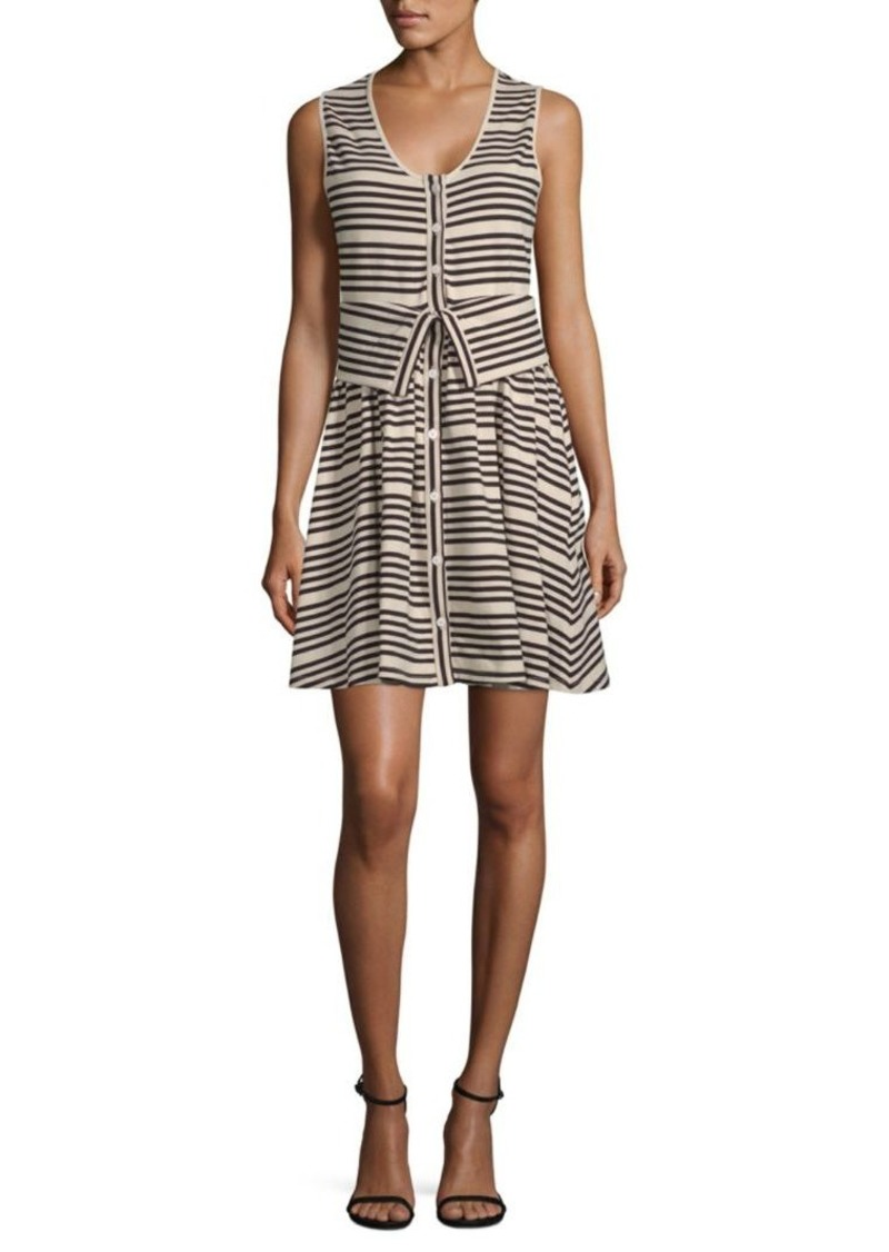 Opening Ceremony Striper Transformer Cotton Dress