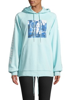 Opening Ceremony Style Council Boxy Graphic Pullover Hoodie