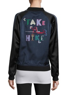 Opening Ceremony Take A Hike Reversible Silk Varsity Jacket