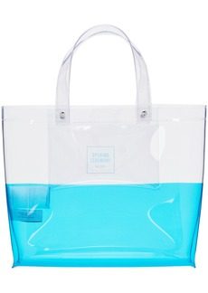 Opening Ceremony Transparent & Blue Medium Colorblock Shopping Tote