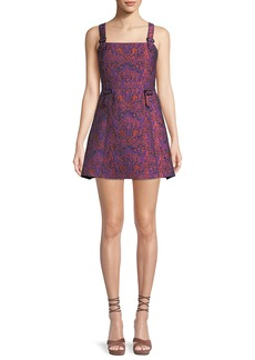 Opening Ceremony William Printed Buckle Mini Dress