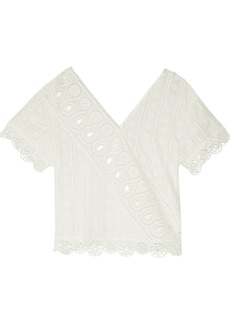 Opening Ceremony Woman Broderie Anglaise Cotton Top White