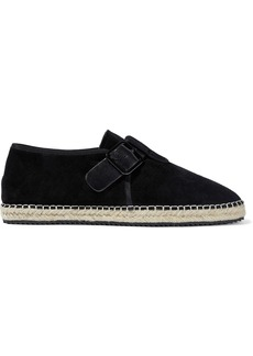Opening Ceremony Woman Buckle-detailed Suede Espadrilles Black