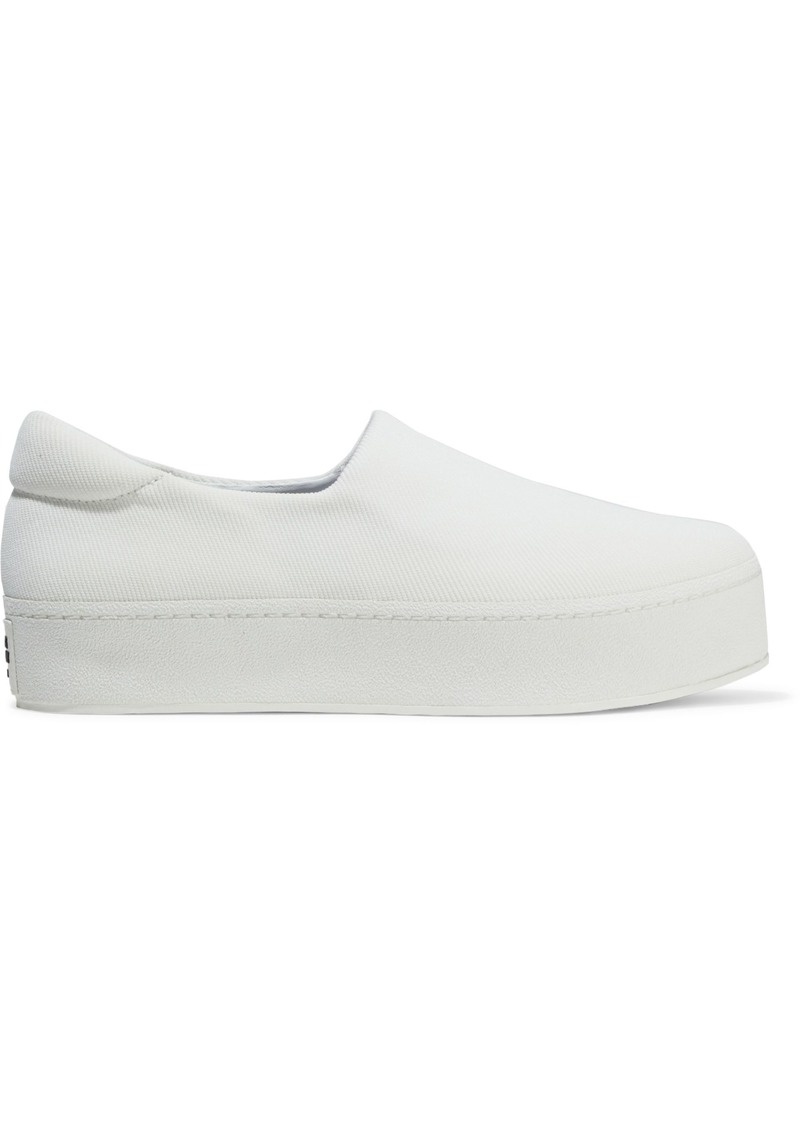 Opening Ceremony Woman Cici Twill Platform Slip-on Sneakers Ivory