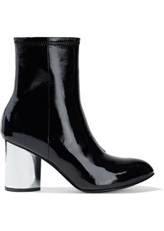 Opening Ceremony Woman Dylan Crinkled Patent-leather Sock Boots Black