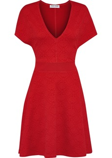 Opening Ceremony Woman Fluted Matelassé Mini Dress Red