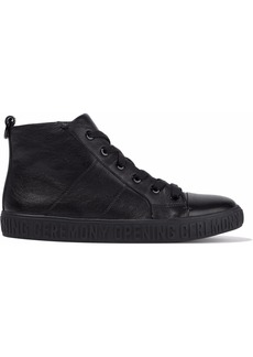 Opening Ceremony Woman Leather High-top Sneakers Black