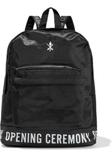 Opening Ceremony Woman Oc Printed Rubber-trimmed Embroidered Twill Backpack Black