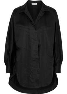Opening Ceremony Woman Oversized Cotton-blend Poplin Shirt Black
