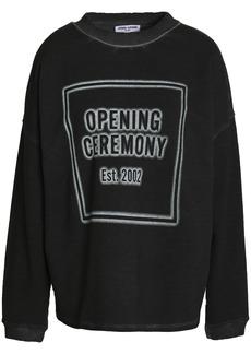 Opening Ceremony Woman Printed Cotton-terry Sweatshirt Black