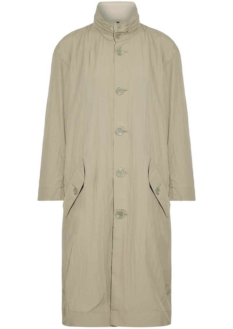 Opening Ceremony Woman Printed Crinkled-shell Hooded Coat Beige