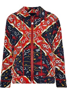 Opening Ceremony Woman Reversible Faux Pearl-embellished Printed Silk Jacket Multicolor