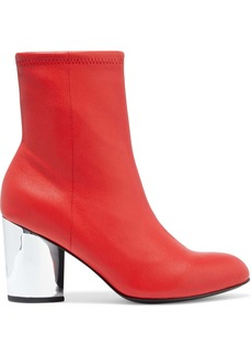Opening Ceremony Woman Stretch-leather Sock Boots Tomato Red