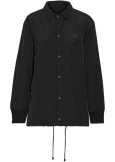 Opening Ceremony Woman Torch Coach Printed Crinkled-shell Jacket Black