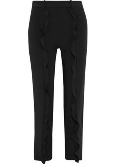 Opening Ceremony Woman William Ruffled Cady Slim-leg Pants Black