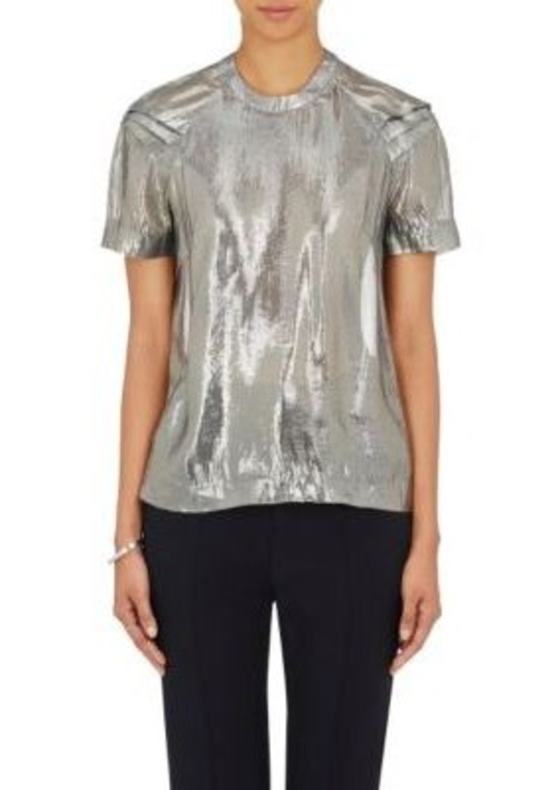 Opening Ceremony Women's Alice Pleated T-Shirt-Dark Grey Size 4
