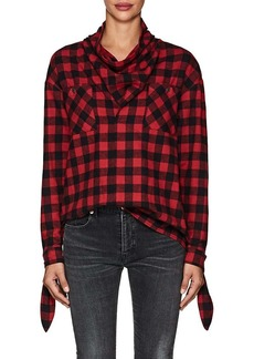 Opening Ceremony Women's Buffalo-Checked Flannel Cowlneck Top
