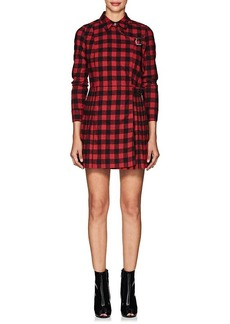Opening Ceremony Women's Buffalo-Checked Flannel Wrap Minidress