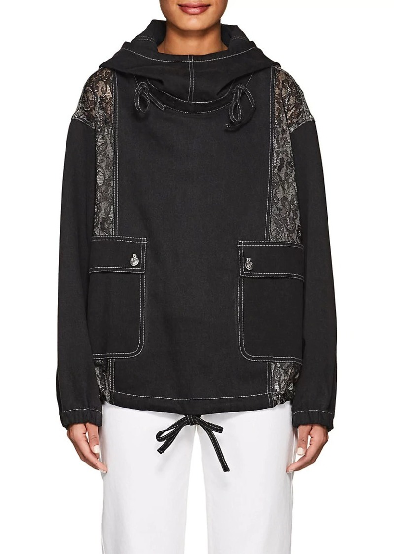 Opening Ceremony Women's Denim & Lace Hoodie