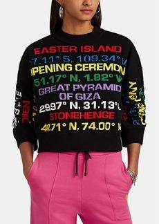Opening Ceremony Women's Destination-Intarsia Cotton-Blend Sweater