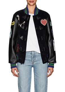 Opening Ceremony Women's Embellished Corduroy & Leather Varsity Jacket