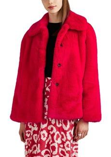 Opening Ceremony Women's Faux-Fur & Faux-Suede Oversized Jacket