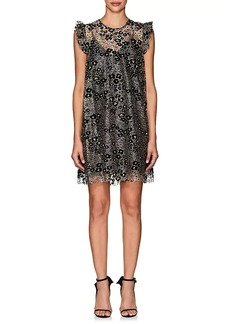 Opening Ceremony Women's Flower-Detailed Metallic Lace Dress