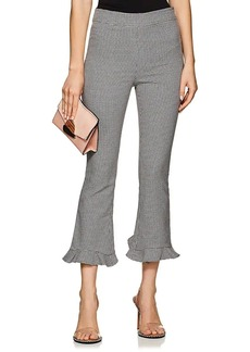 Opening Ceremony Women's Houndstooth Cotton-Blend Ruffled Crop Trousers
