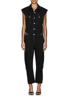 Opening Ceremony Women's Lace-Inset Cotton Denim Jumpsuit