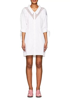 Opening Ceremony Women's Lace-Inset Cotton Shirtdress
