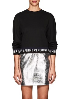 Opening Ceremony Women's Logo Cotton Terry Sweatshirt