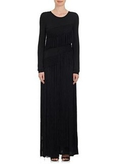Opening Ceremony Women's Lora Fringe Tech-Jersey Maxi Dress