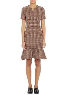 Opening Ceremony Women's Lotus Checked Jacquard Zip-Front Dress