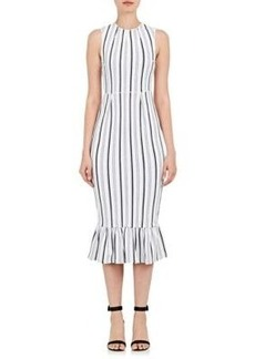 Opening Ceremony Women's Lotus Striped Compact-Knit Dress
