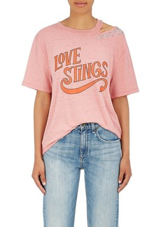 """Opening Ceremony Women's """"Love Stings"""" Embellished Cotton-Blend T-Shirt"""