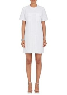 Opening Ceremony Women's Snap-Embellished Cotton-Blend T-Shirt Dress