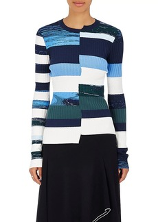 Opening Ceremony Women's Striped Knit Fitted Top